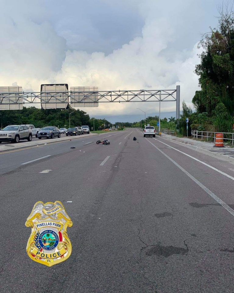 Bicyclist critically injured in crash on Bryan Diary Road near US-19